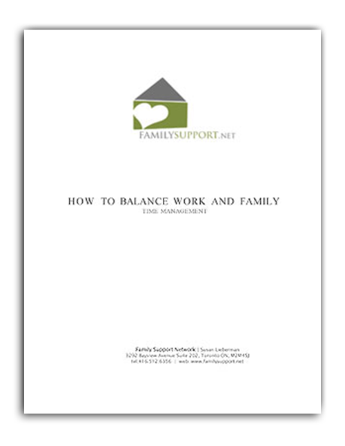 Secrets to balancing work & family